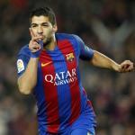 Suárez celebra un gol con el Barça (FC Barcelona)