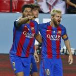 Luis Suárez y Leo Messi. Foto: FCBarcelona.es