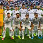 Los cinco jugadores en la rampa de salida del Real Madrid