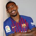 Malcom, en su presentación con el Barça / FC Barcelona.