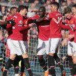 Manchester United, celebrando un gol / Twitter