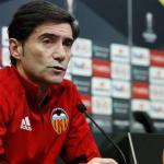 Marcelino en rueda de prensa / Valencia