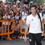 Marcelino en una concentración / Valencia CF