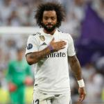 Marcelo se toca el escudo del Real Madrid / Real Madrid