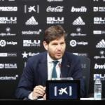 Mateu Alemany en rueda de prensa / valenciacf.com.