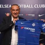 Maurizio Sarri en su presentación con el club londinense. Foto: Chelseafc.com