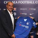 Maurizio Sarri en su presentación con el club londinense. Foto: Express.co.uk
