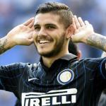 Mauro Icardi celebrando un gol con el Inter. Foto: Inter.it