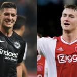 Jovic y De Ligt, con Eintracht y Ajax (YouTube)