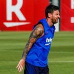 Messi en un entrenamiento con el Barcelona. / culemania.com