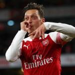 Özil celebra un gol con el Arsenal / Youtube