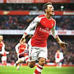 Mesut Ozil celebrando un gol con el Arsenal. Foto: Youtube.com