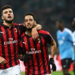 Jugadores del Milan celebran un gol / Youtube