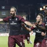 Higuaín, celebrando un gol con el Milan / twitter