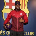 Boateng durante su presentación / Barça