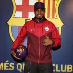 Boateng, el día de su llegada al club (FC Barcelona)