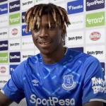 Moise Kean ya luce con la camiseta del Everton. Foto: Everton