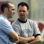 Monchi junto a Caparrós en un entrenamiento / Sevilla