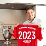 Thomas Muller renueva con el Bayern Munich hasta 2023