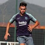 Munir, entrenando con el Barça (FC Barcelona)