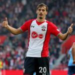 Gabbiadini celebra un gol con los 'Saints' (Southampton FC)