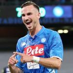 Fabián celebrando un gol con el Nápoles. / directvsports.com