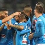 Jugadores del Nápoles celebran un gol / twitter.