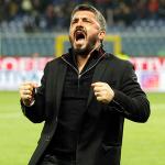 Gattuso celebra una victoria (AC Milan)