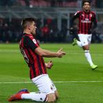 Piatek, celebrando un gol con el cuadro 'rossonero' (AC Milan)