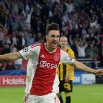 Nicolás Tagliafico, celebrando un gol con el Ajax. Foto: Forxsports.com