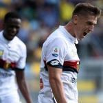Piatek celebra un gol con el Genoa (EFE)