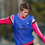 Martín Odegaard en un entrenamiento con el Real Madrid / Real Madrid