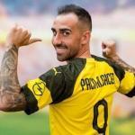 Paco Alcácer, en su presentación con el Borussia Dortmund / Youtube.