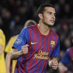 Pedro Rodríguez celebra un gol en el Camp Nou/lainformacion.com/Getty Images