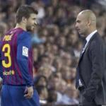 Gerard Piqué dialoga con Pep Guardiola/lainformacion.com/Agencia EFE