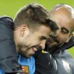 Gerard Piqué, abrazado por Josep Guardiola/lainformacion.com/Agencia EFE