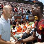 """Zidane y Pogba tuvieron un encuentro en Dubái """"Foto: América TV"""""""