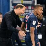 Tuchel y Mbappe no alejan la tensión. Foto: AFP