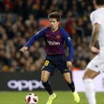 Riqui Puig, con el Barcelona / twitter