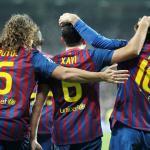 Carles Puyol, Xavi Hernández y Leo Messi/ FCBarcelona.es/ Miguel Ruiz