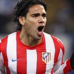 Radamel Falcao celebra un gol en el Vicente Calderón/ Lainformacion.com