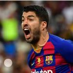 Luis Suárez señala al culpable del empate ante el Celta. Foto: Depor