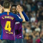 Rakitic y Dembélé en un partido con el Barça / fcbarcelona.es