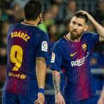 Luis Suárez y Leo Messi, en un partido del FC Barcelona / Getty.