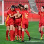 La Selección Femenina durante un partido. / rfef.es