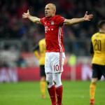 Arjen Robben celebra uno de sus casi 100 goles con el Bayern / UEFA