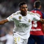 Rodrygo celebrando su primer gol con el Madrid. / rtve.es