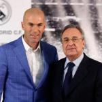 Zinedine Zidane y Florentino Pérez posan ante los medios / realmadrid.com.