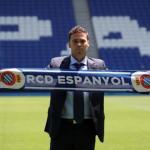 Rubi, en su presentación con el Espanyol / twitter