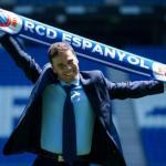 Joan Francesc Ferrer Sicilia 'Rubi' en su presentación como técnico del Espanyol. Foto: Cadenaser